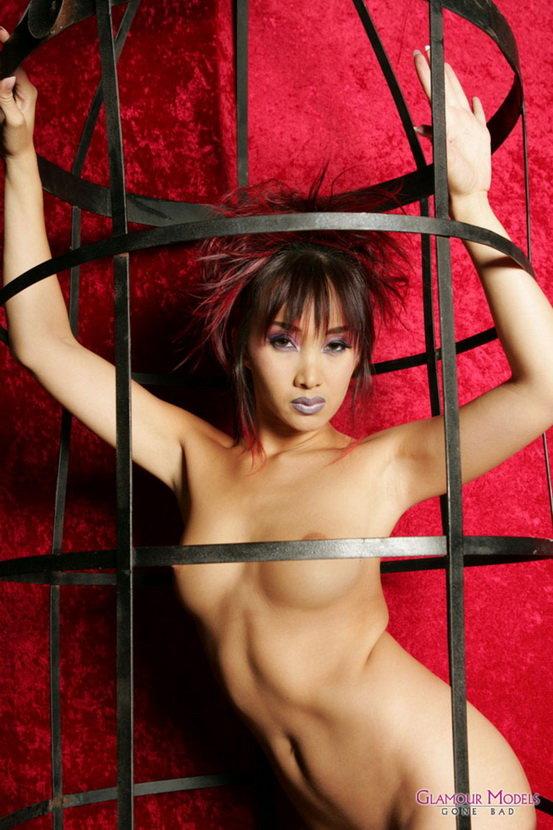 Эротические фото восточной красотки в клетке