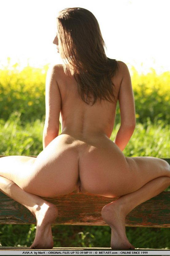 Эротическая фотогалерея шатенки на цветочном поле